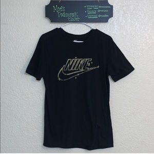 The Nike Tee with Golden Logo (Athletic Cut)